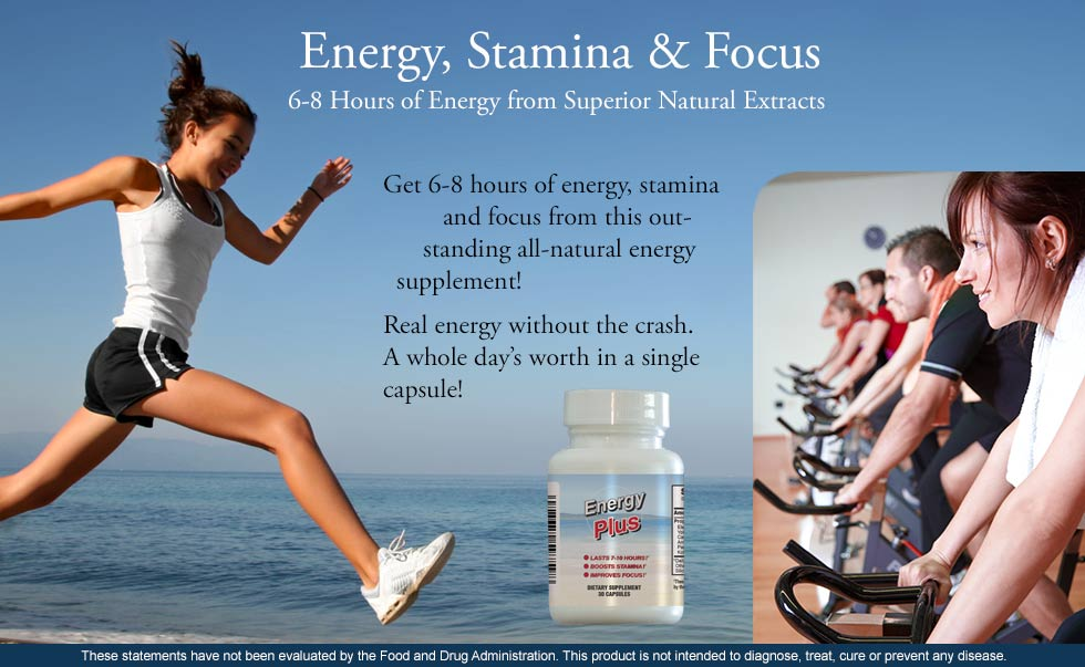 6-8 Hours of Energy, Stamina and Focus
